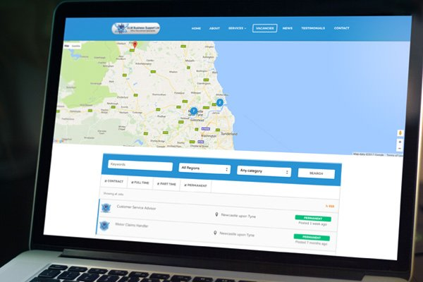 WordPress website for GLM Business Support | Zealous Web Design - Cramlington Blyth Northumberland