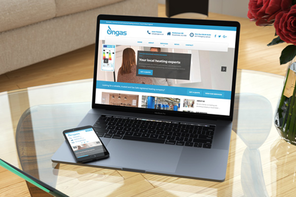 Zealous Web Design - Blyth Northumberland Newcastle upon Tyne - portfolio featured image Ongas Heating Services Ltd