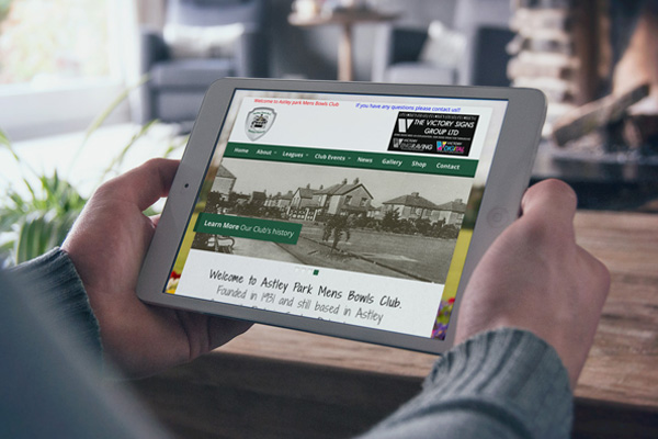 Zealous Web Design | Blyth Northumberland Newcastle upon Tyne | Portfolio Featured Image - Astley Park Bowls Club Seaton Delaval Northumberland